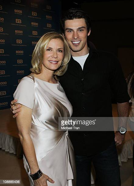 Katherine Kelly Lang and Adam Gregory attend 'The Bold And The Beautiful' 6000th episode celebration held at CBS Studios on February 7 2011 in Los...