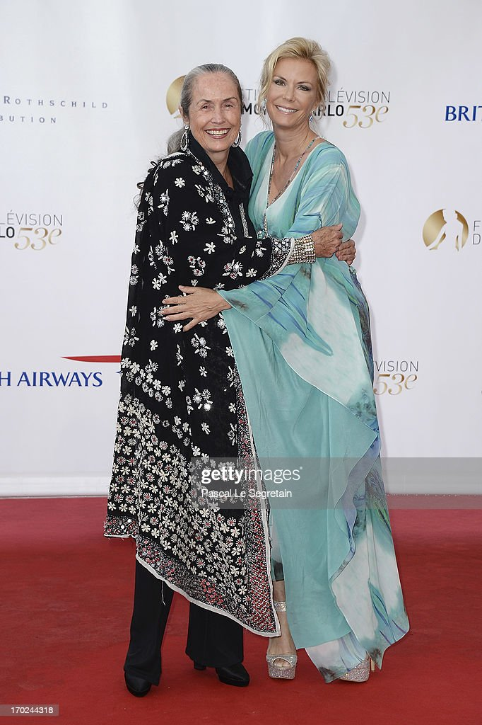 Katherine Kelly Lang (R) and her mother, actress Judith Lang attend the opening ceremony of the 53rd Monte Carlo TV Festival on June 9, 2013 in Monte-Carlo, Monaco.