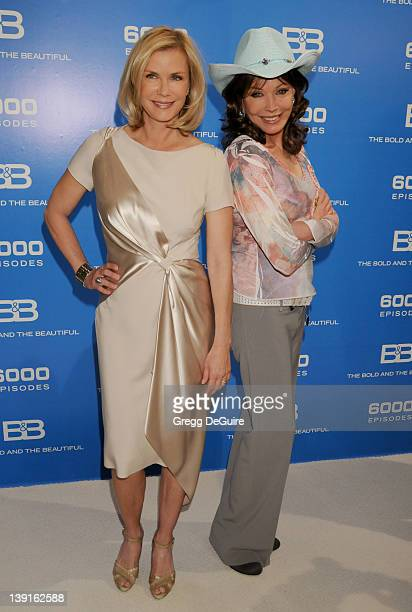 Katherine Kelly Lang and LesleyAnne Down attend the 6000 Episode of The Bold and the Beautiful at CBS Television City on February 7 2011 in Los...