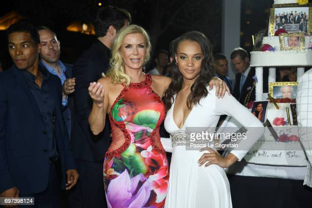 Katherine Kelly Lang and Reign Edwards attends the 'The Bold and The Beautiful' 30th Years anniversary during the 57th Monte Carlo TV Festival Day 3...