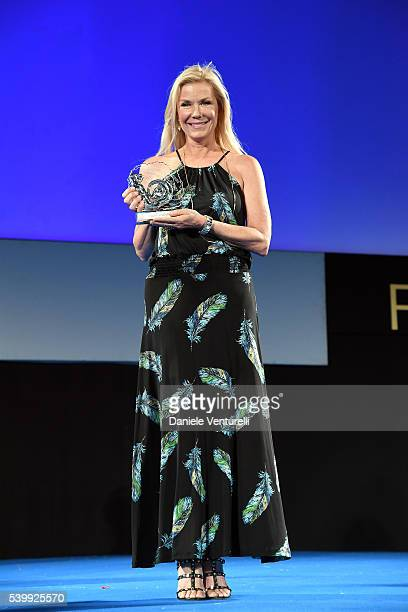 Katherine Kelly Lang attends 62 Taormina Film Fest Day 3 on June 13 2016 in Taormina Italy