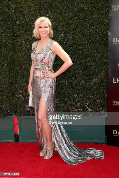 Katherine Kelly Lang attends the 45th annual Daytime Emmy Awards at Pasadena Civic Auditorium on April 29 2018 in Pasadena California