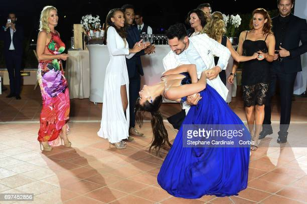 Katherine Kelly Lang Reign Edwards Rome Flynn Jacqueline MacInnes Wood Don Diamont and Courtney Hope dance during the 'The Bold and The Beautiful'...