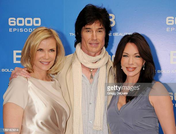Katherine Kelly Lang Ronn Moss and Hunter Tylo attend the 6000 Episode of The Bold and the Beautiful at CBS Television City on February 7 2011 in Los...