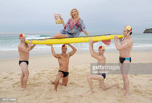 Katherine Kelly Lang who plays Brooke Logan in 'The Bold and The Beautiful' poses on Bondi Beach on July 22 2015 in Sydney Australia