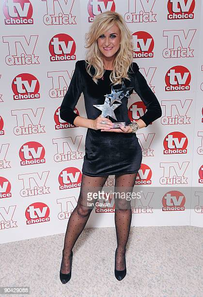 Katherine Kelly Winner of the Best Soap Actress Award at the TV Quick TV Choice Awards at The Dorchester on September 7 2009 in London England