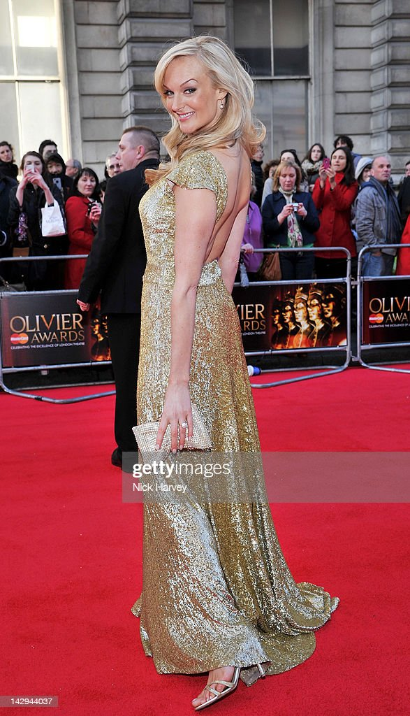 Katherine Kingsley arrives at the Olivier Awards 2012 at The Royal Opera House on April 15, 2012 in London, England.