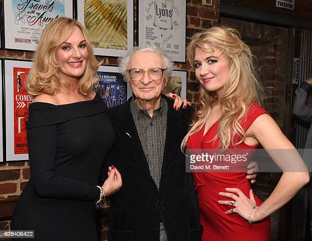 Katherine Kingsley Sheldon Harnick and Scarlett Strallen attend the after party following the press night performance of She Loves Me at Menier...