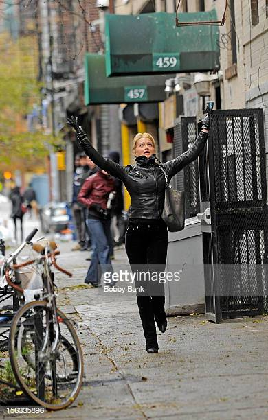 Katherine LaNasa filming on location for 'Infamous' on November 13 2012 in New York City