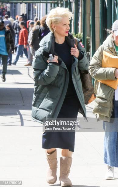 Katherine LaNasa is seen on March 20 2019 in New York City
