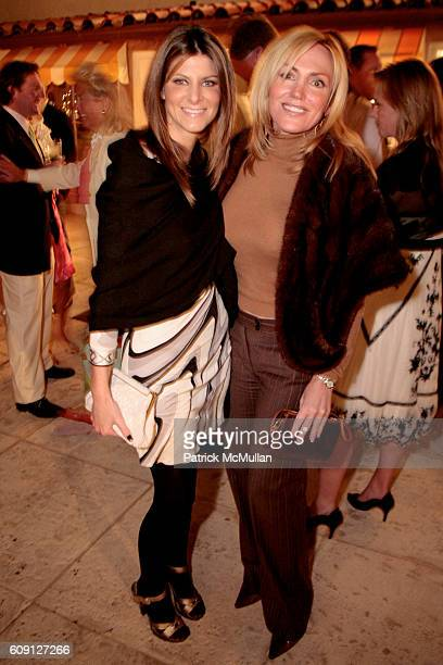 Katherine Lande and Loretta Neff attend HOLLYWOULD Cocktails in the Courtyard at Via Mizner Courtyard on February 17 2007 in Palm Beach FL