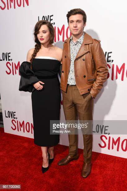 Katherine Langford and Nick Robinson attend Special Screening Of 20th Century Fox's 'Love Simon' Arrivals at Westfield Century City on March 13 2018...