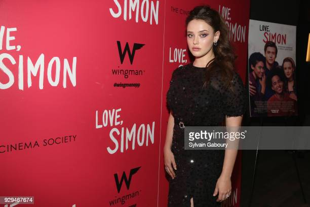 Katherine Langford attends 20th Century Fox Wingman host a screening of 'Love Simon' on March 8 2018 in New York City