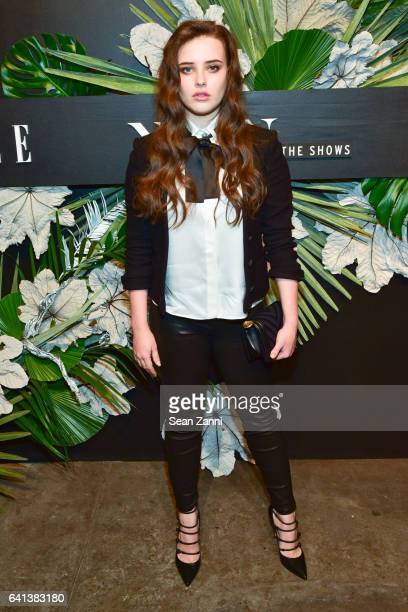 Katherine Langford attends ELLE E And IMG Host New York Fashion Week February 2017 KickOff Event at 40 Bethune Street on February 8 2017 in New York...