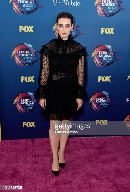 Katherine Langford attends FOX's Teen Choice Awards at The Forum on August 12 2018 in Inglewood California
