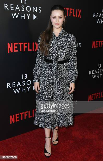 Katherine Langford attends #NETFLIXFYSEE Event For '13 Reasons Why' Season 2 at Netflix FYSEE At Raleigh Studios on June 1 2018 in Los Angeles...