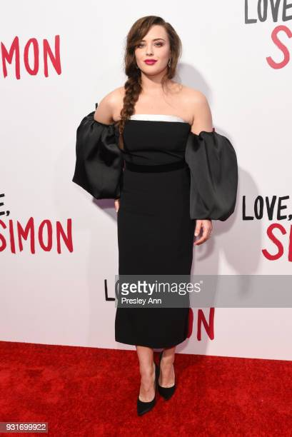 "Katherine Langford attends Special Screening Of 20th Century Fox's ""Love, Simon"" - Arrivals at Westfield Century City on March 13, 2018 in Century..."