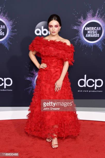 Katherine Langford attends the 2019 American Music Awards at Microsoft Theater on November 24 2019 in Los Angeles California