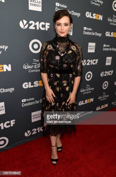 Katherine Langford attends the GLSEN Respect Awards at the Beverly Wilshire Four Seasons Hotel on October 19 2018 in Beverly Hills California