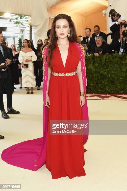 Katherine Langford attends the Heavenly Bodies Fashion The Catholic Imagination Costume Institute Gala at The Metropolitan Museum of Art on May 7...