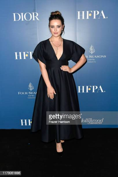 Katherine Langford attends the HFPA/THR TIFF PARTY during the 2019 Toronto International Film Festival at Four Seasons Hotel on September 07 2019 in...