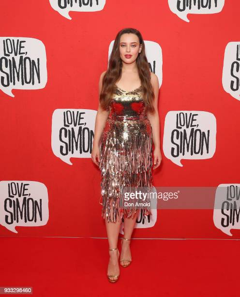 Katherine Langford attends the Love Simon Australian Premiere on March 18 2018 in Sydney Australia