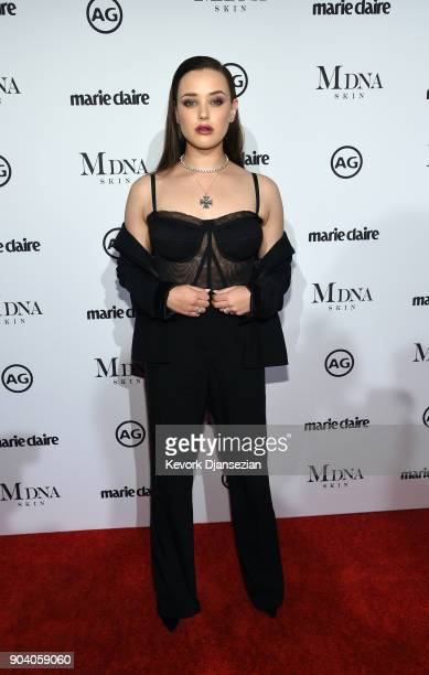 Katherine Langford attends the Marie Claire's Image Makers Awards 2018 at Delilah LA on January 11 2018 in West Hollywood California