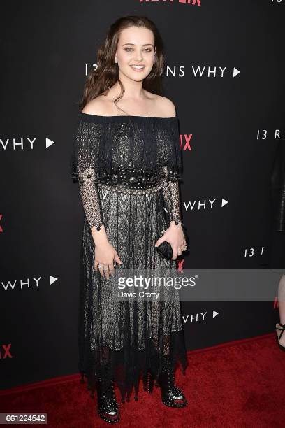 Katherine Langford attends the premiere of Netflix's '13 Reasons Why' at Paramount Pictures on March 30 2017 in Los Angeles California
