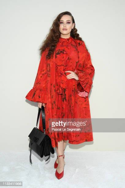 Katherine Langford attends the Valentino show as part of the Paris Fashion Week Womenswear Fall/Winter 2019/2020 on March 03 2019 in Paris France