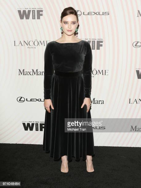 Katherine Langford attends the Women In Film 2018 Crystal Lucy Awards held at The Beverly Hilton Hotel on June 13 2018 in Beverly Hills California