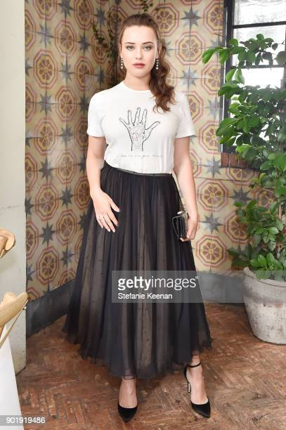 Katherine Langford wearing Dior attends Lynn Hirschberg Celebrates W Magazine's It Girls With Dior at AOC on January 6 2018 in Los Angeles California