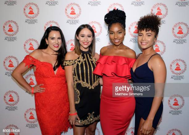 Katherine Lauren Divani Vasil Linda Elaine and Doralys Britto attend the Latin GRAMMY Acoustic Session with Camila and Melendi at The Novo by...