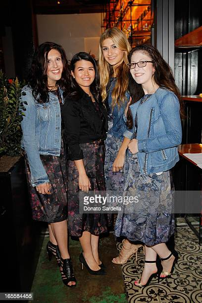 Katherine Levine Micheline Rusli Ellen Benuska and Amanda White attend Vogue's Triple Threats dinner hosted by Sally Singer and Lisa Love at Goldie's...