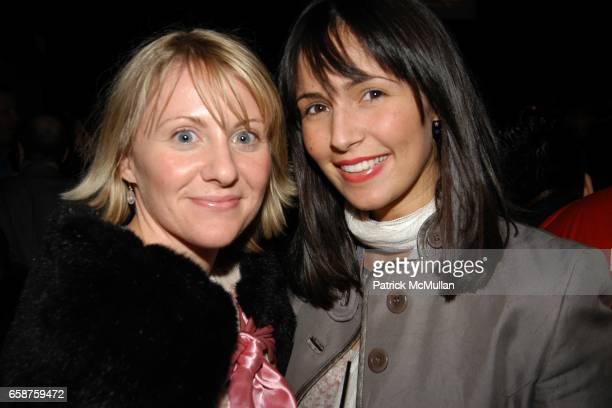 Katherine Lore and Julie Matos attend The Daily Toast to Olympus Fashion Week NYC at The Social Club 14 East 27thSt on February 11 2004