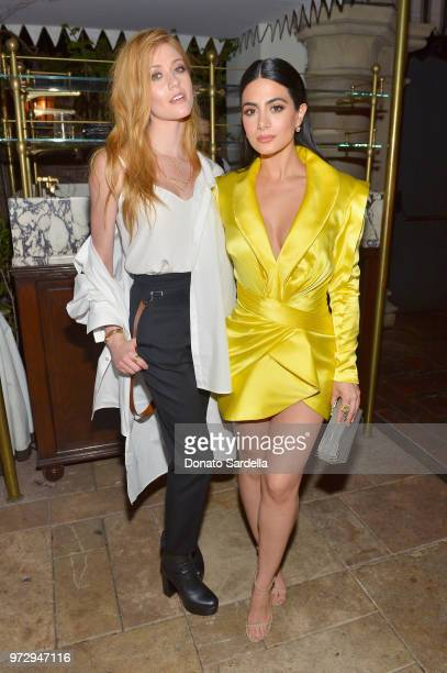 Katherine McNamara and Emeraude Toubia attend the Max Mara Celebration for Alexandra Shipp 2018 Women In Film Max Mara Face Of The Future Award...