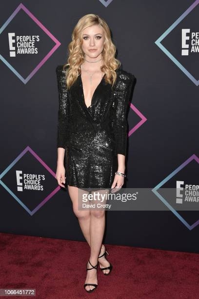 Katherine McNamara arrives at E People's Choice Awards at Barker Hangar on November 11 2018 in Santa Monica California