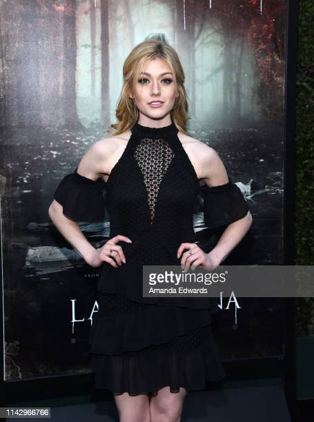 Katherine McNamara arrives at the premiere of Warner Bros' The Curse Of La Llorona at the Egyptian Theatre on April 15 2019 in Hollywood California