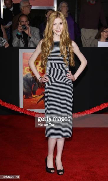 Katherine McNamara arrives at the world premiere of Disney's John Carter held at Regal Cinemas LA Live on February 22 2012 in Los Angeles California