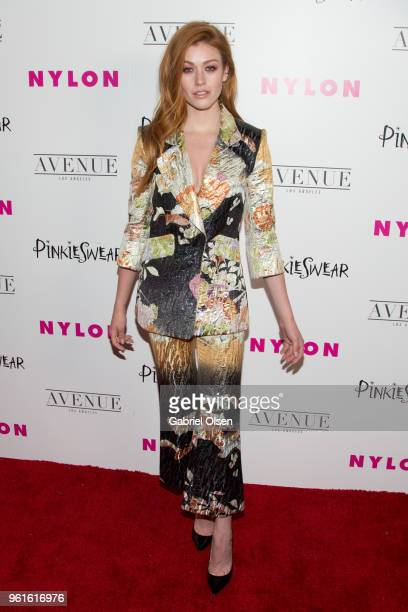 Katherine McNamara arrives for NYLON Hosts Annual Young Hollywood Party at Avenue on May 22 2018 in Los Angeles California