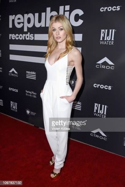 Katherine McNamara at Republic Records Grammy after party at Spring Place Beverly Hills on February 10 2019 in Beverly Hills California
