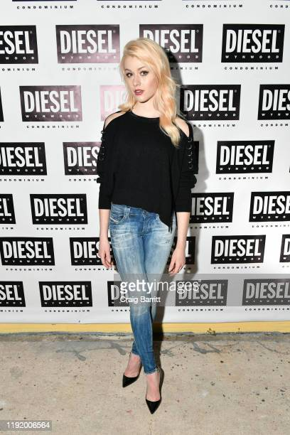 Katherine McNamara attends as DIESEL celebrates the exclusive launch of DIESEL Wynwood 28 their first residential building with a DJ set by Amrit at...