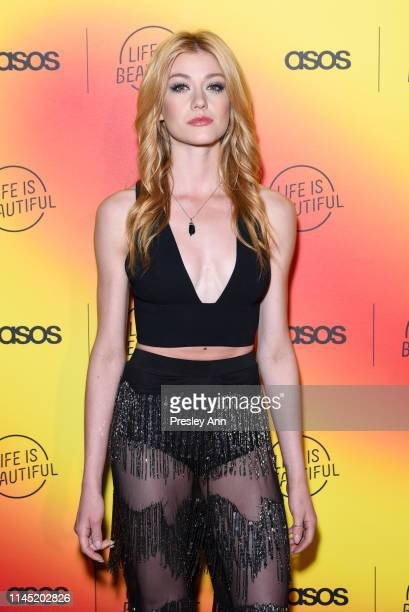 Katherine McNamara attends ASOS celebrates partnership with Life Is Beautiful at No Name on April 25 2019 in Los Angeles California