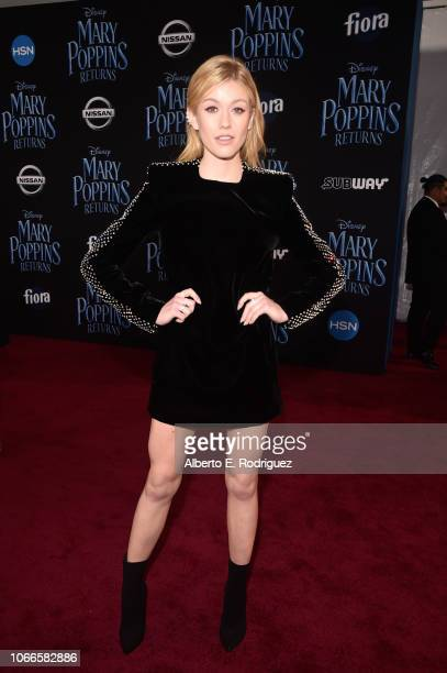Katherine McNamara attends Disney's 'Mary Poppins Returns' World Premiere at the Dolby Theatre on November 29 2018 in Hollywood California