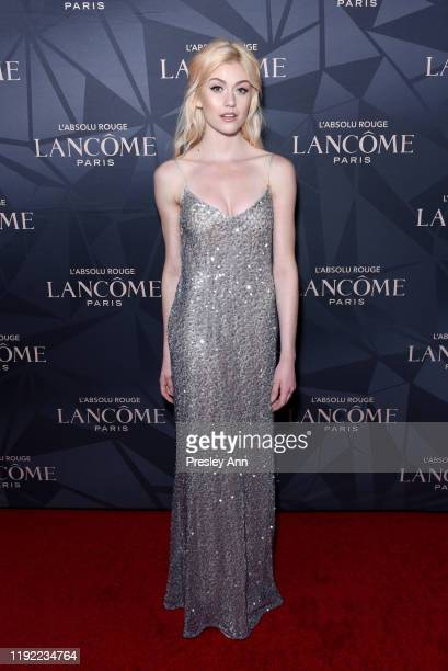 Katherine McNamara attends Lancôme x Vogue L'Absolu Ruby Holiday Event at Raspoutine on December 05 2019 in West Hollywood California