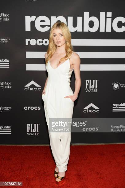Katherine McNamara attends Republic Records Grammy after party at Spring Place Beverly Hills on February 10 2019 in Beverly Hills California