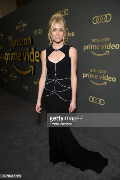 Katherine McNamara attends the Amazon Prime Video's Golden Globe Awards After Party at The Beverly Hilton Hotel on January 6 2019 in Beverly Hills...