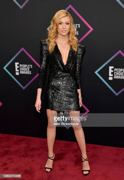 Katherine McNamara attends the People's Choice Awards 2018 at Barker Hangar on November 11 2018 in Santa Monica California