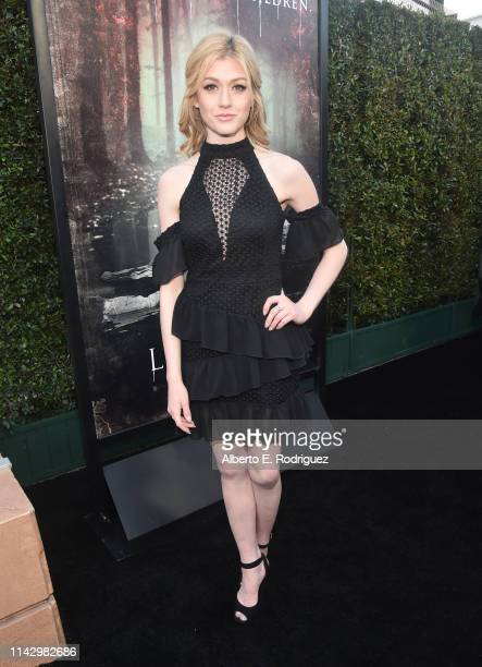 Katherine McNamara attends the premiere of Warner Bros' The Curse of La Llorona at the Egyptian Theatre on April 15 2019 in Hollywood California