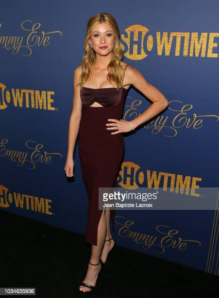 Katherine McNamara attends the Showtime Emmy eve nominees celebration on September 16 2018 in Los Angeles California