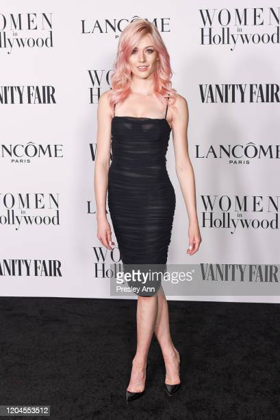 Katherine McNamara attends the Vanity Fair and Lancôme Women in Hollywood celebration at Soho House on February 06 2020 in West Hollywood California